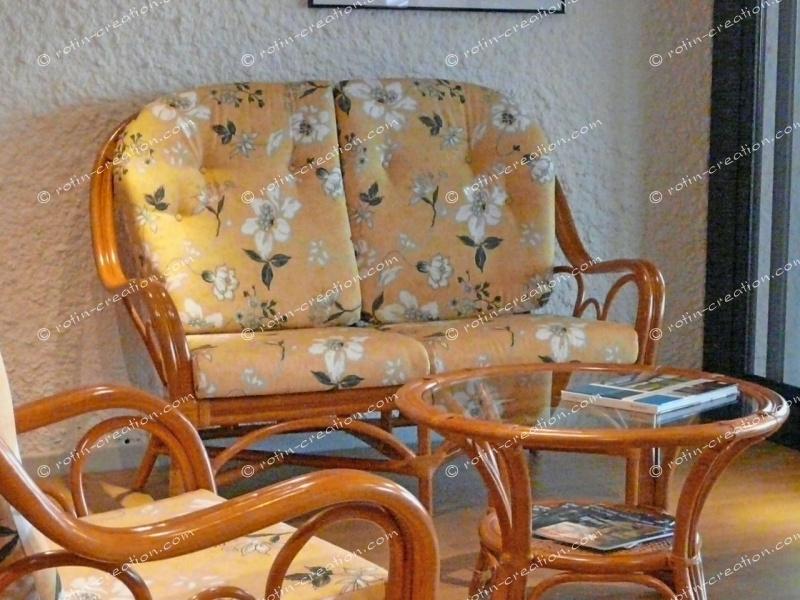 canap 2 places palma - Salon Rotin Pour Veranda